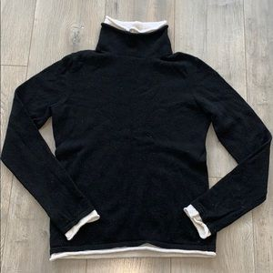 Evelyn Grace Black Cashmere Sweater Small